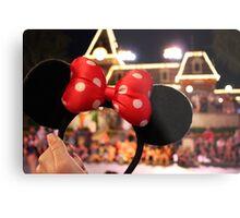 Minnie Mouse Ears on Mainstreet Metal Print