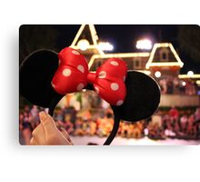 Minnie Mouse Ears on Mainstreet Canvas Print