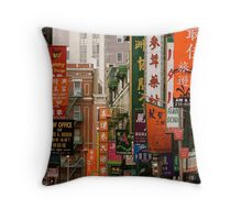 Chinatown, New York City Throw Pillow