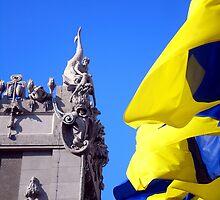 Gorodetsky House With Flags, Kyiv (Kiev) by Robert La Bua