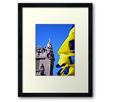 Gorodetsky House With Flags, Kyiv (Kiev) Framed Print