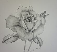 Rose Monotone  by PamelaMeredith