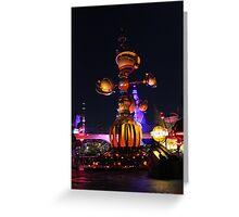 Tomorrowland Astro Orbitor at Night Greeting Card