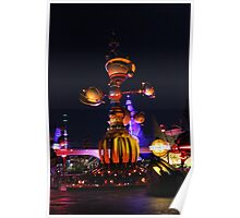 Tomorrowland Astro Orbitor at Night Poster