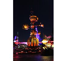 Tomorrowland Astro Orbitor at Night Photographic Print