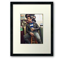 miles teller gq Framed Print