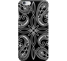 Black and White Floral Paisley Pattern iPhone Case/Skin