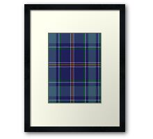 00464 Blue Ridge Highlands Heritage District Tartan  Framed Print