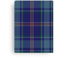00464 Blue Ridge Highlands Heritage District Tartan  Canvas Print