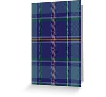 00464 Blue Ridge Highlands Heritage District Tartan  Greeting Card