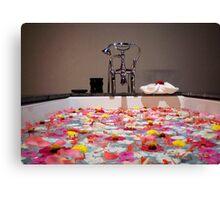 floral bathtub, Luang Prabang Laos Canvas Print
