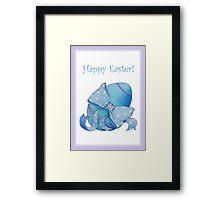 Blue Egg Easter Framed Print