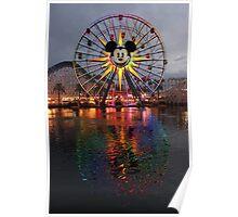 Mickey's Fun Wheel at Sunset Poster