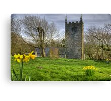 St. Juliot church in early spring Canvas Print