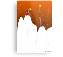 Winter Climb  Metal Print