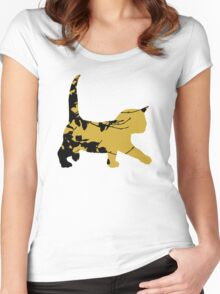 Shadow Creeping Kitten Women's Fitted Scoop T-Shirt
