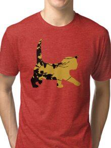 Shadow Creeping Kitten Tri-blend T-Shirt