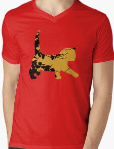 Shadow Creeping Kitten Mens V-Neck T-Shirt