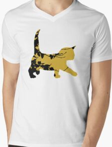Shadow Creeping Kitten Mens V-Neck T-Shirt