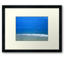 paragliding over the Indian Ocean, Réunion Island Framed Print