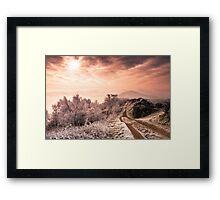 Big Freeze - Winter morning on Malvern Hills Framed Print