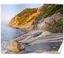 Morning light at the sea Poster