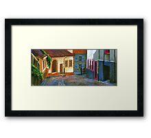 Germany Baden-Baden Old Street Framed Print