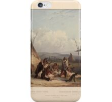 funeral-scaffold-of-a-sioux-chief-near-fort-pierre-plate-11-from-volume-2-of-travels-in-the-1844 iPhone Case/Skin