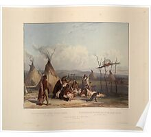 funeral-scaffold-of-a-sioux-chief-near-fort-pierre-plate-11-from-volume-2-of-travels-in-the-1844 Poster