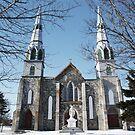 church draped in winter by Jennifer Finn