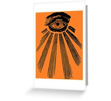 The All Seeing Eye. Greeting Card