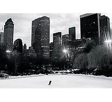 Lone Skater on Wollman Rink Photographic Print