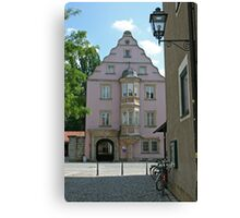 Street in old town of Bairoit.Germany Canvas Print
