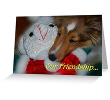Our Friendship... Greeting Card