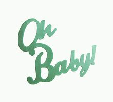 OH BABY! typography print on throw pillows by smilingcloud