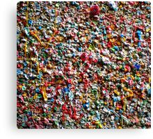 Market Theater Gum Wall (detail), Seattle Canvas Print
