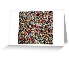 Market Theater Gum Wall (detail), Seattle Greeting Card