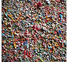 Market Theater Gum Wall (detail), Seattle Photographic Print