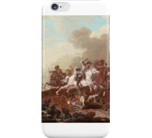 GEORG PHILIPP RUGENDAS THE ELDER - A CAVALRY SKIRMISH iPhone Case/Skin