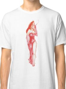 the woman in red.........ink Classic T-Shirt