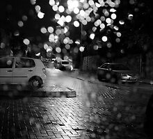Through the raindrops Black &White by Margarita K