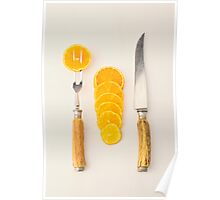 Sliced - Oranges Poster