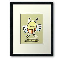 Happy Mr. Bug Framed Print