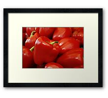 RED RED RED RED.... Framed Print