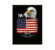 native american eagle Art Print