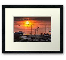 Sunset at Porthcawl Framed Print