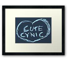 Cute Cynic Framed Print
