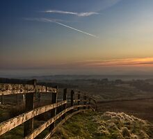 Misty sunset from Rivington by Paul Madden