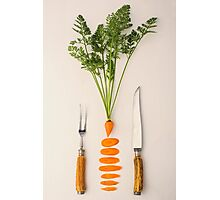 Sliced - Carrots Photographic Print