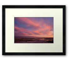 sunset over laguna Chaxas Framed Print